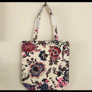 TORY BURCH CANVAS TOTE  HAPPY TIMES. NWT